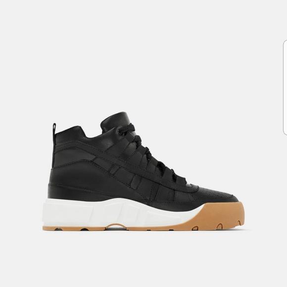 Zara Shoes   Zara Leather High Top